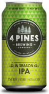 4 PINES IN SEASON IPA CANS
