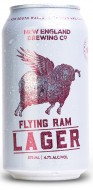 NEW ENGLAND FLYING RAM LAGER CANS
